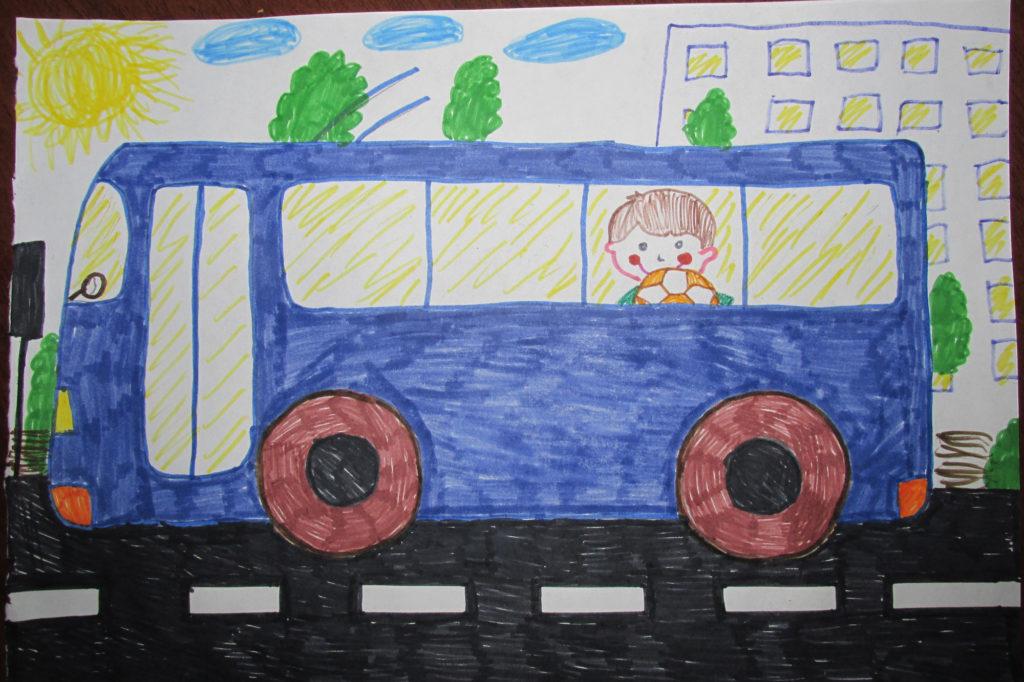 картинка автобус с флажками едет по улице вооружение, если вашем