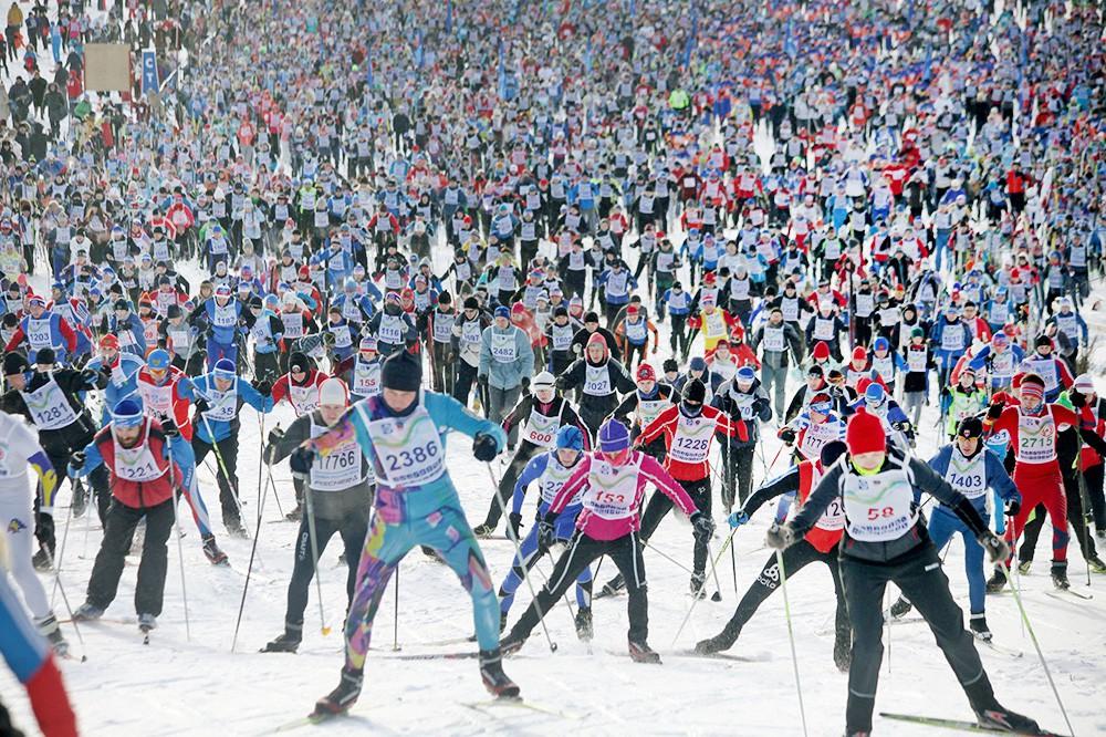 Спорт вокруг, лыжный забег