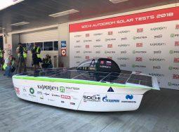 На «Сочи Автодроме» презентовали первый российский солнцемобиль