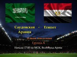 ЧМ по футболу 2018: матч «Саудовская Аравия» — «Египет»