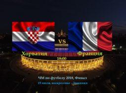 Финал ЧМ по футболу 2018: Франция — Хорватия!